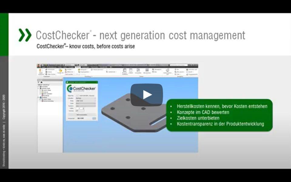 Video: Cost-Checker als CAD Plug-In