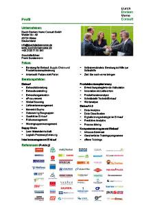 Profil Consulting im Einkauf Durch Denken Vorne Consult
